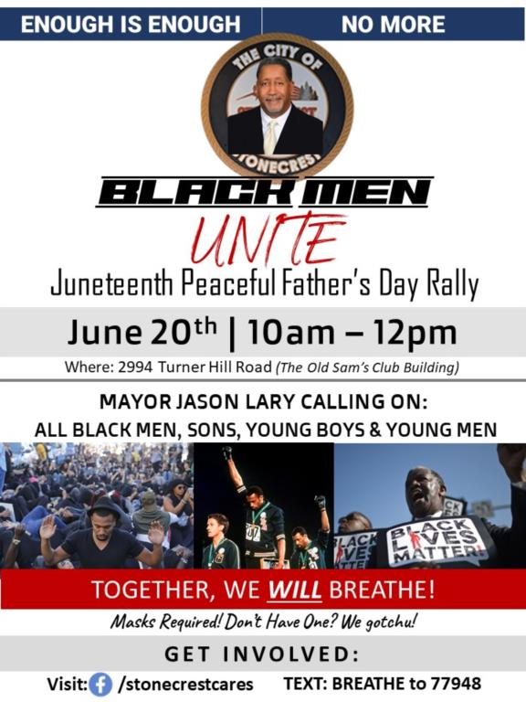 Juneteenth Fathers Day Rally flyer