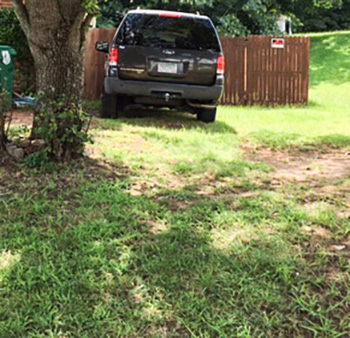Code Enforcement Violation - Parking on the lawn