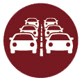 vehicles in traffic icon